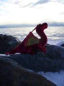 Douglas the Dragon looks for Flathead Lake Monster.