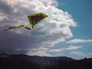 Early spring kite flying.