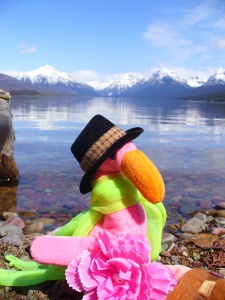 Philip on the shore of Lake McDonald